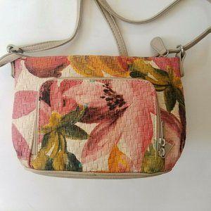 MultiSac White Floral Hawaiian Shoulder Bag